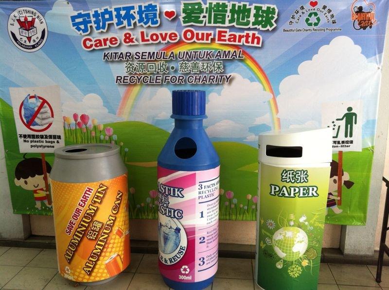 Recyling Bin Paper Bottle Can