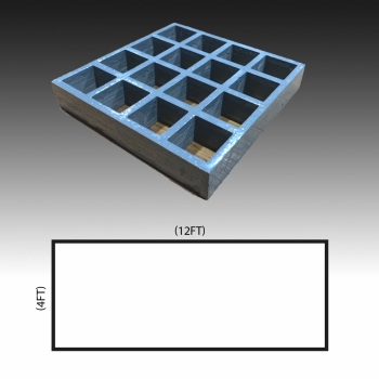 MG 25(38/38) Standard panel 4ft x 12ft (Grey/Grating Only)