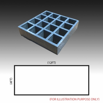 MG 38(38/38) Standard panel 4ft x 12ft (Grey/Grating Only)