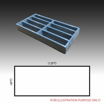 MG 25(25/100) Standard panel 4ft x 12ft (Grey/Grating Only)