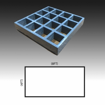 MG 25(38/38) 4ft x 8ft (Grey/Grating Only)
