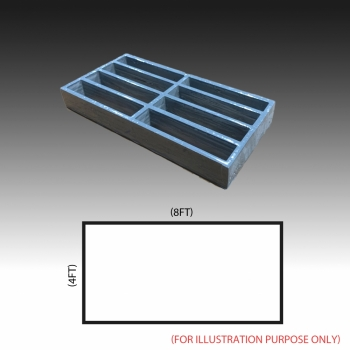 MG 25(25/100) 4ft x 8ft (Grey/Grating Only)