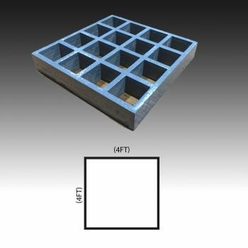MG 25(38/38) 4ft x 4ft (Grey/Grating Only)
